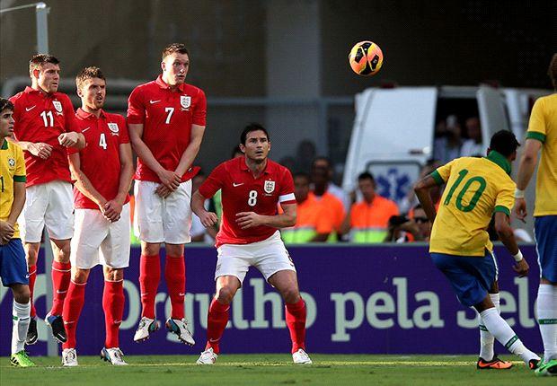Brazilië en Engeland blijven in evenwicht