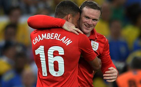International Friendly - Brazil v England, Wayne Rooney and Alex Chamberlain