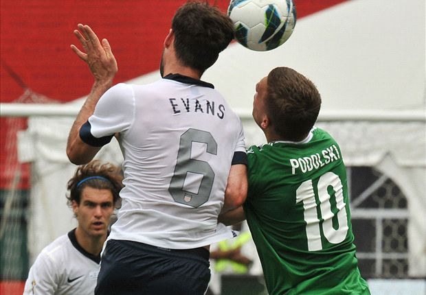 Evans helped shut down German striker Lukas Podolski on Sunday