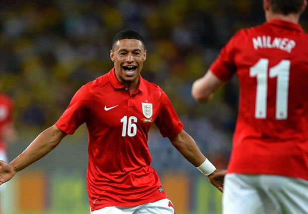 Alex Oxlade-Chamberlain has revealed his joy at scoring for England against Brazil