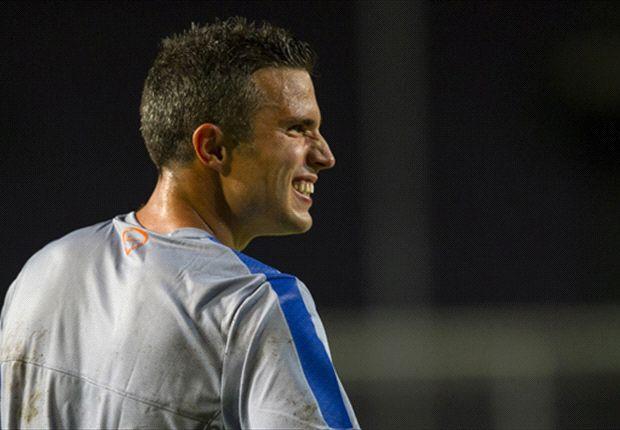 Dirk-Jan in den Eng speelde in Israël met Van Persie