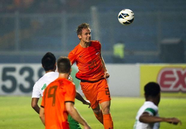 Siem de Jong mencetak gol perdana bagi timnas di penampilan ketiganya