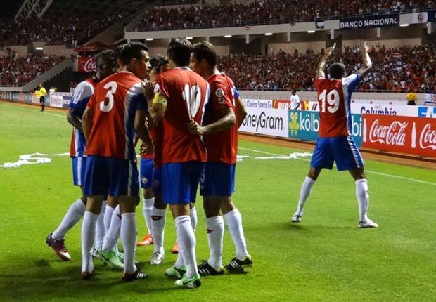 Festejo costarricense en el triunfo por la mínima ante Honduras