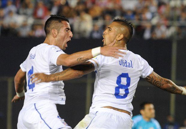 Arturo Vidal marcó el segundo gol en la victoria de Chile ante Paraguay