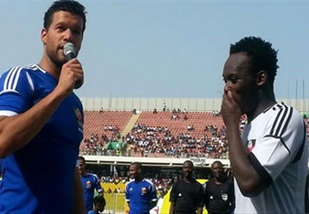 Michael Essien and Ballack wowed fans in Ghana in the charity match
