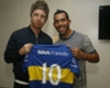 Gallagher reunited with idol Tevez