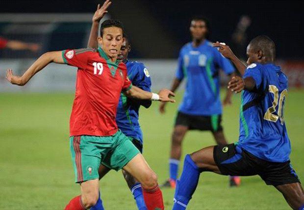 Maroko memetik kemenangan atas 10 pemain Tanzania