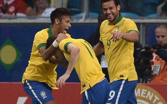 Brazil v. France - Neymar, Fred, Oscar