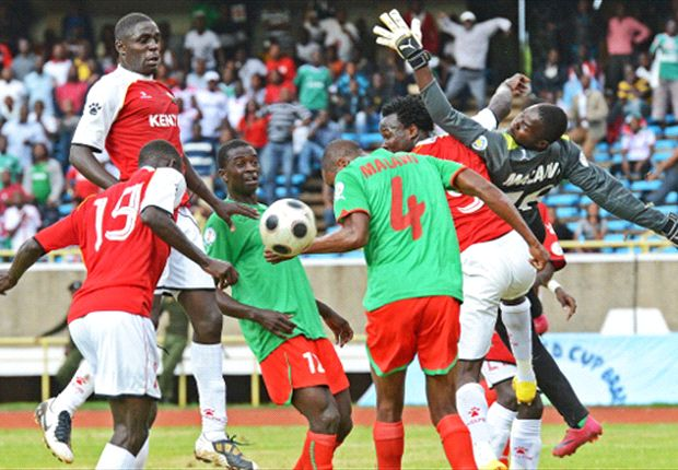 Kenya v Malawi during the first leg of this qualifier played in Nairobi last September