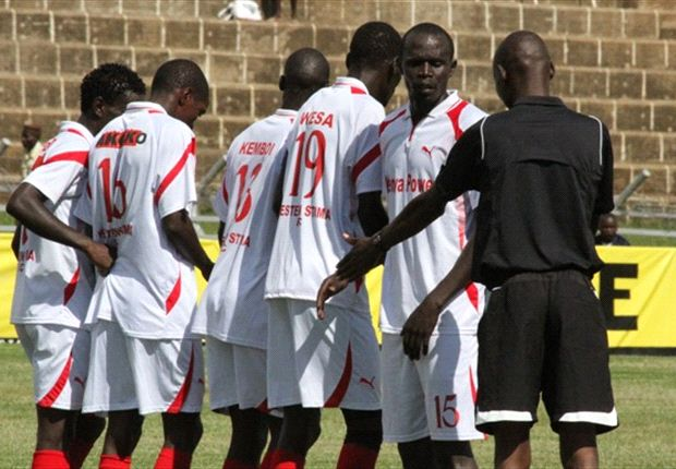 Western Stima players in a past league match.