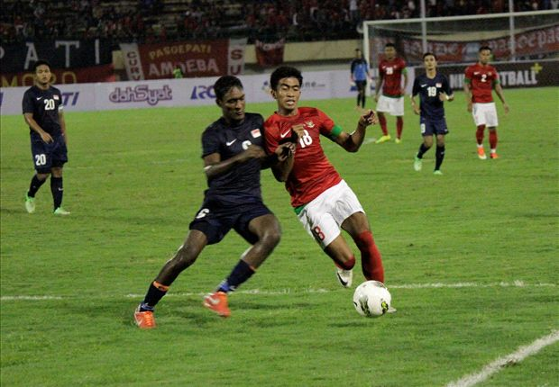The previous Under-23 friendly clash between Indonesia and Singapore ended in a 1-1 draw