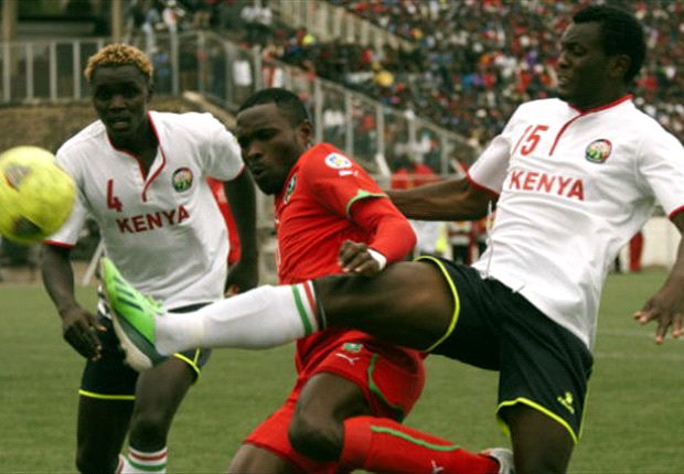 Gor Mahia defender David Owino (r) was outstanding for club and country in 2013.