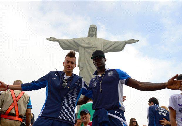 Balotelli und El Shaarawy in Rio de Janeiro