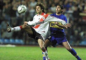 Aimar vistió la camiseta de River entre 1996 y 2000.