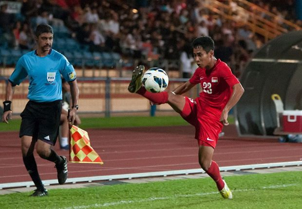 Nazrul Nazari in action for the U23 side against Philippines