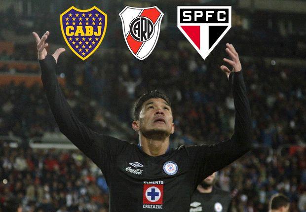 Teófilo Gutiérrez, entre Boca Juniors, River Plate y Sao Paulo