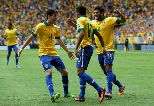 Brazil 3-0 Japan: Neymar volley opens Confederations Cup in style
