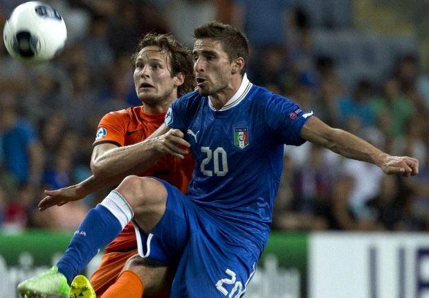 Fabio Borini menjadi pahlawan kemenangan Italia di semi-final Kejuaraan Eropa U-21