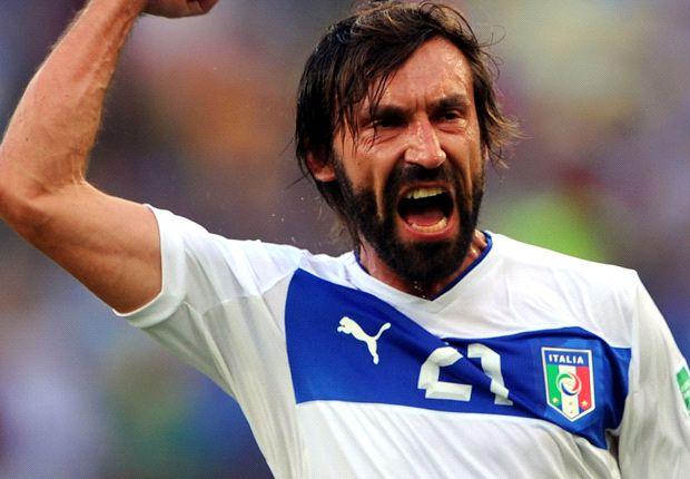 Andrea Pirlo a disputé son 100e match avec l'Italie