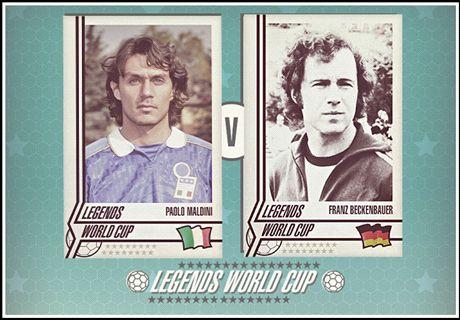 Legends World Cup: Maldini vs Beckenbauer