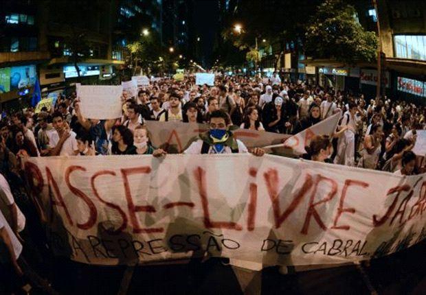 Fußball nur Nebensache: Demonstrationen in Rio