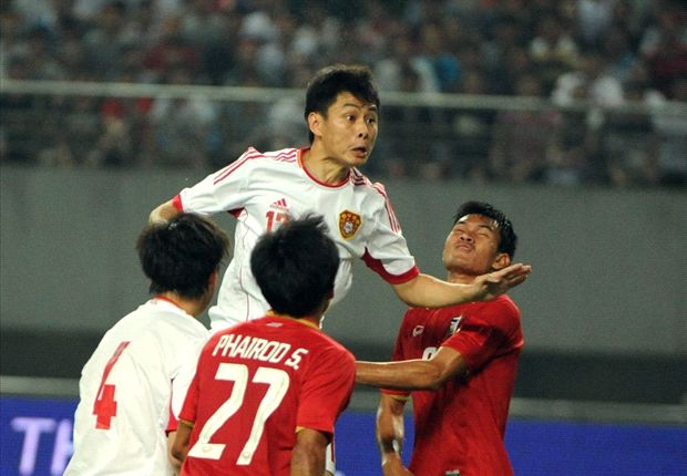China lost 5-1 to Thailand in a friendly match with the visitors fielding a young side