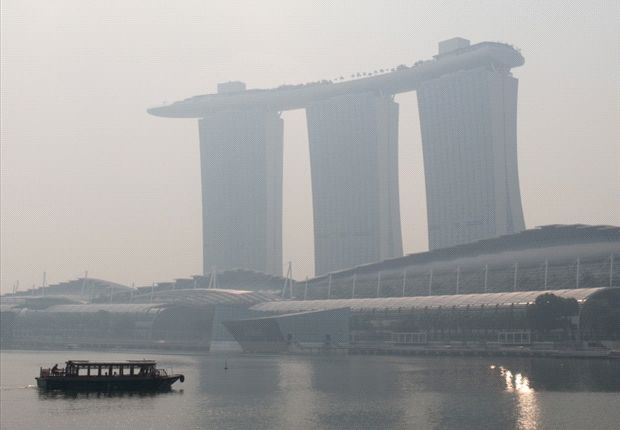 Haze blanketing all of Singapore