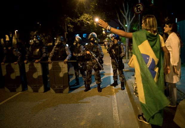 100,000 expected to protest ahead of Brazil semi-final