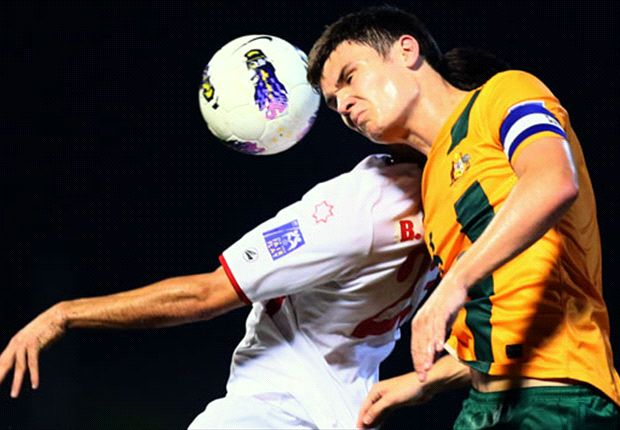 Young Socceroos skipper Curtis Good in action for Australia's Under-19s