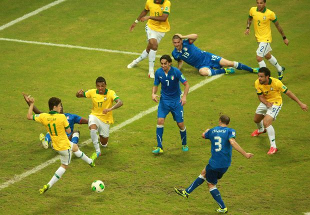 Offside goals, professional fouls missed - the Confederations Cup refereeing has been a shambles