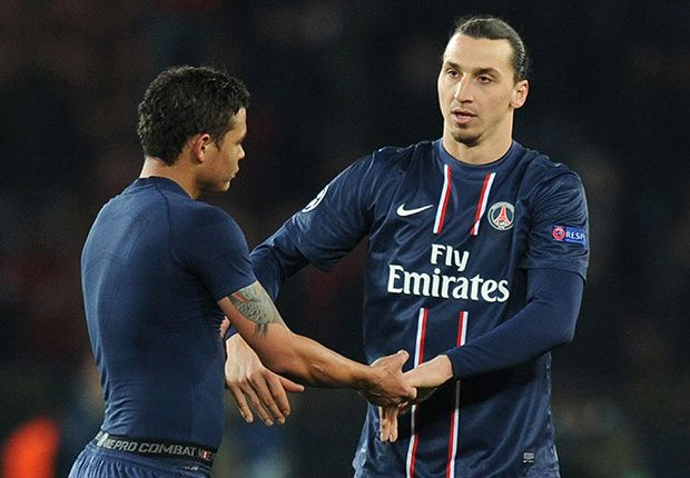 Ibrahimovic and Thiago Silva staying put, says PSG president
