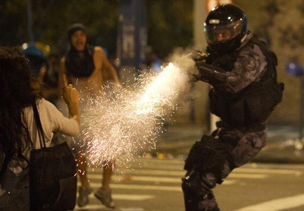 Demontrasi sering terjadi di Brasil saat Piala Konfederasi