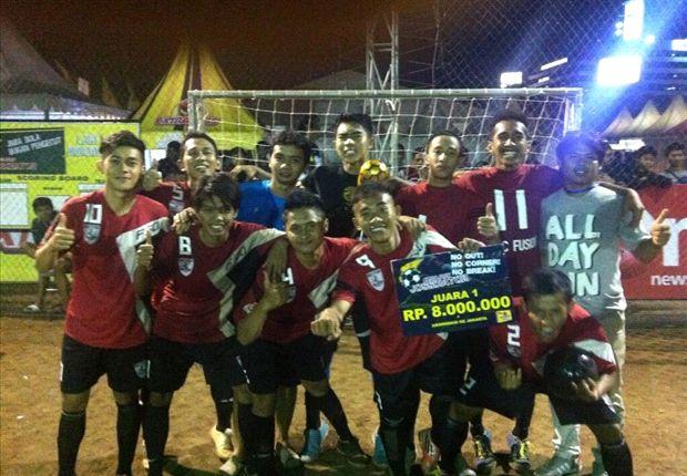 Tim futsal DKRC sukses menjuarai Jossdiator Bandung