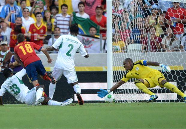 Nigeria 0-3 Spain: Jordi Alba and Fernando Torres ensure world champions top Group B