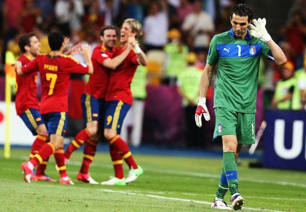 Festejo en la final de la Euro 2012