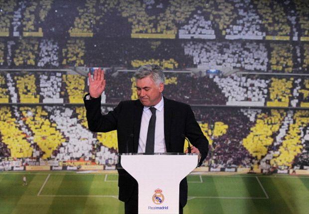 Ancelotti en su presentación en el Madrid