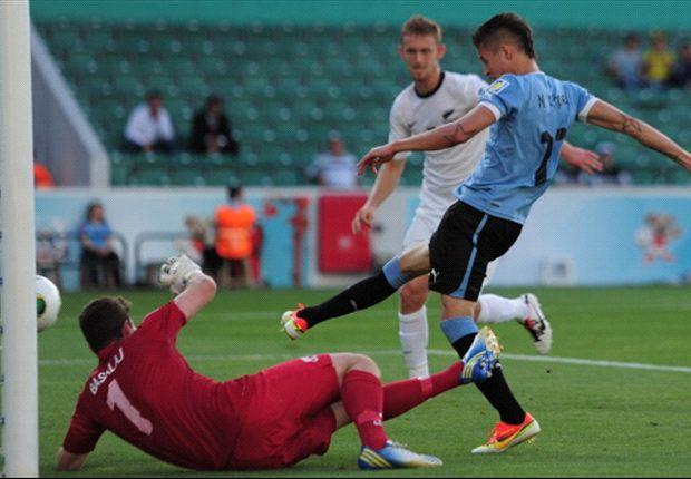 Nicolás López marcó el 2 a 0 frente a Nueva Zelanda