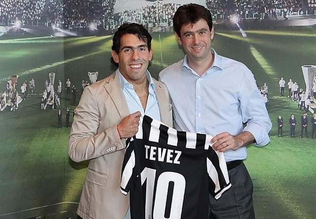 Tevez: It's an honour to be given Del Piero's shirt