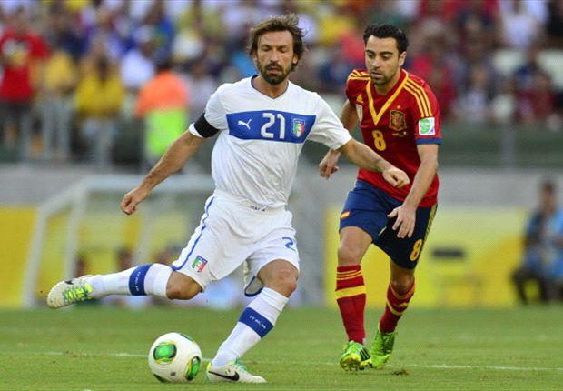 Spanyol masih dinaungi kemujuran tidak dibobol Italia di babak pertama semi-final Piala Konfederasi 2013.