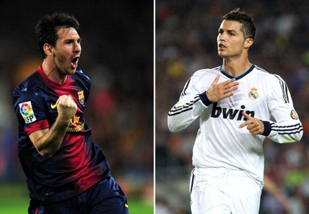 El argentino lleva seis gritos en La Liga 13/14; el portugués, dos.
