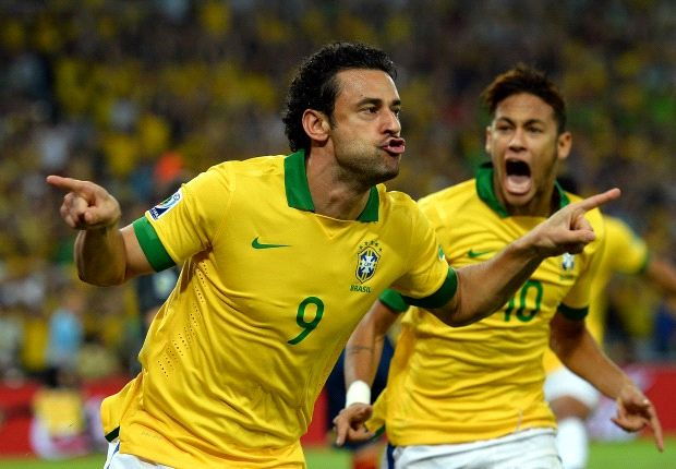 Fred scored twice in Brazil's Confederations Cup final win over Spain
