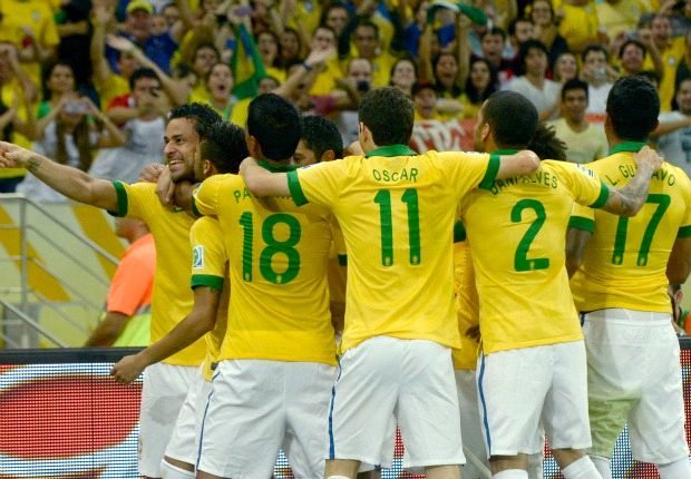 Brazil 3-0 Spain: Fantastic Fred seals Confederations Cup