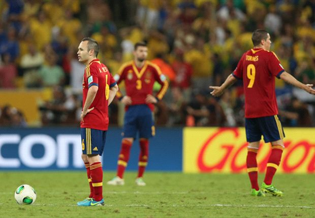The Confederations' Cup final was Spain's first competitive defeat in over three years
