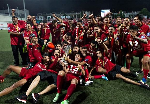 The jubilant LionsXII players celebrate their MSL win. Who is your pick as the best player?