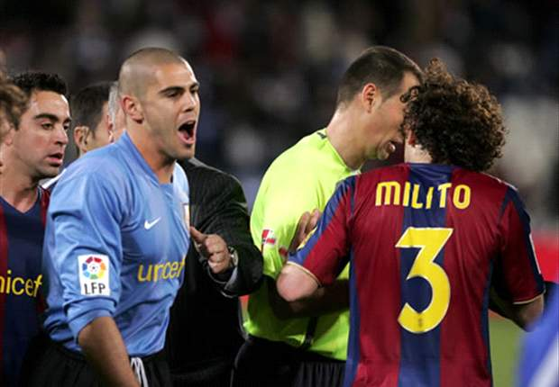 Aguero leads tributes to retiring Milito: 'It was a pleasure, Gabi'