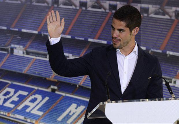 Isco, en su presentación como nuevo jugador del Real Madrid