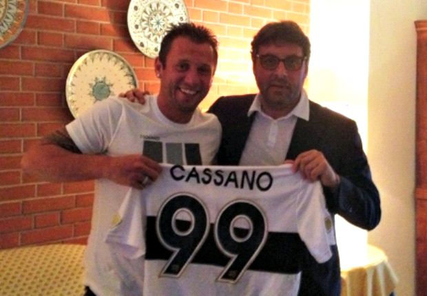 Cassano leaves Inter for Parma