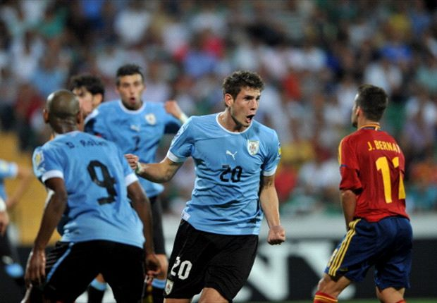Uruguay feiert gegen Spanien