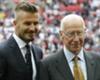Beckham hails Bobby Charlton