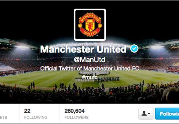 Manchester United es furor en Twitter. Sumó más de 260.000 seguidores en tres horas.